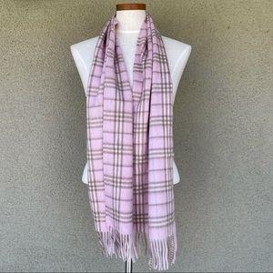 NEW Burberry London pink plaid scarf